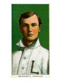 Louisville, KY, Louisville Minor League, Delehanty, Baseball Card Poster by  Lantern Press