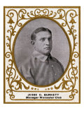 Worcester, MA, Worcester Minor League, Jesse C. Burkett, Baseball Card Print