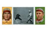 St. Louis, MO, St. Louis Cardinals, Roger Bresnahan, Robert Harmon, Baseball Card Print