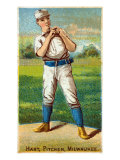 Milwaukee, WI, Milwaukee Minor League, Hart, Baseball Card Print by  Lantern Press