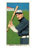 Portland, OR, Portland Pacific Coast League, Greggs, Baseball Card Print