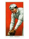 Rochester, NY, Rochester Minor League, John Ganzel, Baseball Card Print
