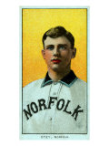 Norfolk, VA, Norfolk Virginia League, William Otey, Baseball Card Print by  Lantern Press