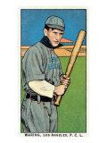 Los Angeles, CA, Los Angeles Pacific Coast League, Waring, Baseball Card Print by  Lantern Press