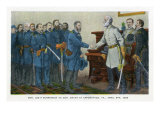 Appomattox, Virginia, Representation of Lee Surrendering to Grant on April 9, 1865 Prints by  Lantern Press