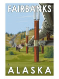 Fairbanks, Alaska, Alaskan Pipeline Scene Prints by  Lantern Press