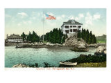 Narragansett, Rhode Island, Bay View of the Squantum Club Prints by  Lantern Press