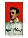 Baltimore, MD, Baltimore Eastern League, Phil Poland, Baseball Card Posters by  Lantern Press