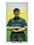 Savannah, GA, Savannah South Atlantic League, Ernie Howard, Baseball Card Posters by  Lantern Press