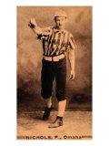 Omaha, NE, Omaha Minor League, Nichols, Baseball Card Posters by  Lantern Press