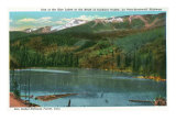 San Isabel National Forest, CO, View of One of the Blue Lakes at Cuchara Valley Head Art by  Lantern Press