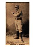 Omaha, NE, Omaha Minor League, Clark, Baseball Card Print