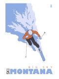 Big Sky, Montana, Skier Stylized Posters
