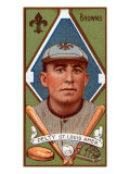 St. Louis, MO, St. Louis Browns, Barney Pelty, Baseball Card Poster by  Lantern Press