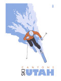 Canyons, Utah, Skier Stylized Posters by  Lantern Press