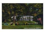 Peoria, Illinois, Glen Oak Park View of the Pergola Prints