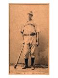 Milwaukee, WI, Milwaukee Minor League, Bobby Lowe, Baseball Card Posters by  Lantern Press
