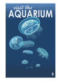 Visit the Aquarium, Jellyfish Scene Prints by  Lantern Press