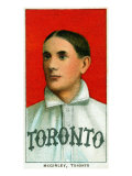 Toronto, Canada, Toronto Minor League, Jim McGinley, Baseball Card Print