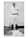 St. Louis, MO, St. Louis Browns, J. Milligan, Baseball Card Poster