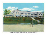 Virginia Beach, Virginia, Tennis Court View of the Princess Anne Country Club Prints by  Lantern Press
