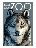 Visit the Zoo, Wolf Up Close Posters