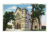Buffalo, New York, Exterior View of St. Joseph's Cathedral with Spires Removed Prints by  Lantern Press