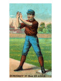 St. Louis, MO, St. Louis Browns, Charles Comiskey, Baseball Card Poster by  Lantern Press