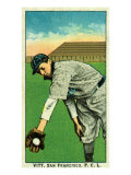 San Francisco, CA, San Francisco Pacific Coast League, Vitt, Baseball Card Poster by  Lantern Press