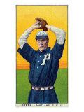 Portland, OR, Portland Pacific Coast League, Steen, Baseball Card Poster