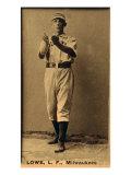 Milwaukee, WI, Milwaukee Minor League, Bobby Lowe, Baseball Card Poster by  Lantern Press