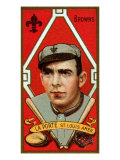 St. Louis, MO, St. Louis Browns, Frank LaPorte, Baseball Card Poster