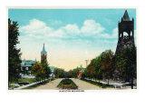 Peoria, Illinois, Scenic View down Hamilton Boulevard Print