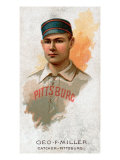 Pittsburgh, PA, Pittsburgh Alleghenys, George F. Miller, Baseball Card Print by  Lantern Press