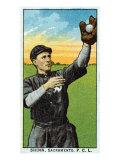 Sacramento, CA, Sacramento Pacific Coast League, Shinn, Baseball Card Posters