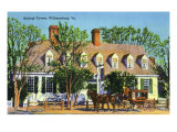 Exterior View of the Raleigh Tavern, Williamsburg, Virginia Prints