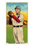 Vernon, CA, Vernon Pacific Coast League, Hensling, Baseball Card Poster by  Lantern Press