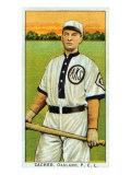 Oakland, CA, Oakland Pacific Coast League, Zacher, Baseball Card Poster by  Lantern Press