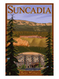 Roslyn, Washington, Suncadia Resort Scene Print by  Lantern Press