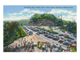 Great Smoky Mts National Park, TN, Aerial View of Newfound Gap Parking Aera Print