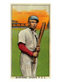 Vernon, CA, Vernon Pacific Coast League, Martinke, Baseball Card Print by  Lantern Press