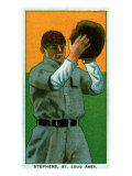 St. Louis, MO, St. Louis Browns, Jim Stephens, Baseball Card Print by  Lantern Press