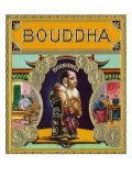Bouddha Brand Cigar Outer Box Label, Misspelling of Buddha Prints