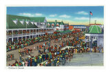 Hampton Beach, New Hampshire, General View of the Children's Parade Prints by  Lantern Press