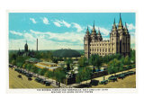 Salt Lake City, Utah, General View of the Mormon Temple and Tabernacle Prints