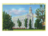 St. George, Utah, Exterior View of a Mormon Temple Prints