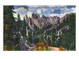 Black Hills, South Dakota, Needles Highway View of Horseshoe Curve Posters by  Lantern Press