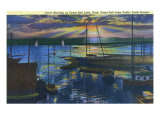 Utah, Great Salt Lake Public Harbor View of the Sunrise on the Lake Posters