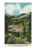 Rocky Mt. National Park, Colorado, Aerial View of Mountain Surrounded Estes Park Prints by  Lantern Press