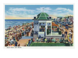 Hampton Beach, New Hampshire, View of the Band Stand on the Beach Prints by  Lantern Press